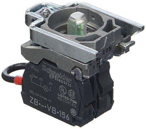 Schneider ZB4BVB3156 Körper für Meldeleuchte, ZB4, mit LED-Modul, grün, 24 - Led-meldeleuchte