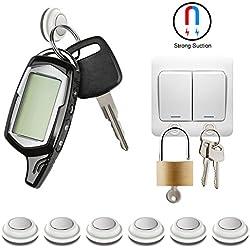 Giwox portachiavi magnetico Sticky Key rack facile installazione forte magnete ganci portachiavi con 4sostituzione gratuita adesivi, confezione da 6