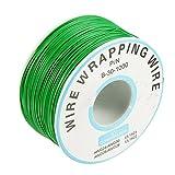 LaDicha 3Pcs Light Verde 0,55 Mm Circuito Di Bordo Single-Core In Rame Stagnato Wire Wrap Cavo Elettronico Fly Wire Jumper Cable Dupont Cable