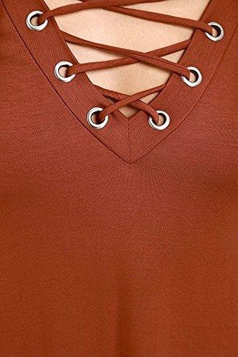 Cfanny - Robe - Trapèze - Femme Orange - Orange