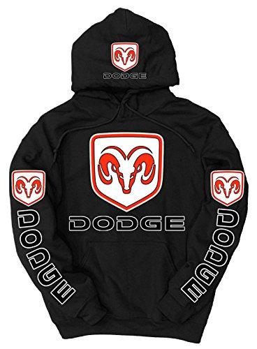 Dodge Logo Hoodie, XXXX-Large Black (Dodge Camo Hoodie)