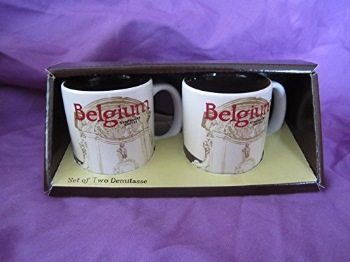 Starbucks Coffee Set di due Demitasse Belgio 3 fl oz/89 ml