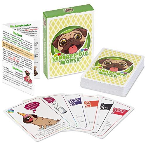 Schnapp die Möpse (Mopsspiel ~ lustiges Kartenspiel für Gute Freunde und angeregte Spieleabende (54 Karten) -