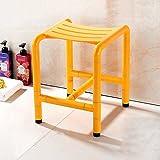 Guo Shop- Multifunktions-Badezimmer-Schemel-alter Mann-schwangere Frauen-rutschfeste Sicherheits-Speicher, zum des Schuh-Schemels Badezimmer-Stuhl zu ändern ( Farbe : Gelb )
