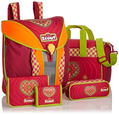 Scout Schulranzen-Set Basic Nano Set 1 5 tlg Pink Heart 36 cm Pink 71500778700