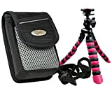 Foto Kamera Tasche ADVENTURE MAYLIS GREY Set mit Reise Stativ Rollei 100 für Sony RX100 Canon Powershot SX Nikon Coolpix Panasonic Lumix und andere