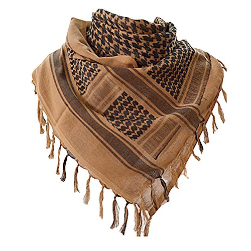 Shemagh Scarf Men 100% Cotton Military Mens Scarf Tactical Desert Scarf for Men