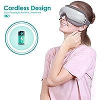 Naipo Masseur des Yeux Appareil de Massage Oculaire avec Fonction de Chauffage Musique Compression d'Air pour Migraine Anti Cernes et Relaxation des Yeux et Cerveau