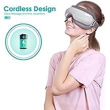 Naipo Breo MGE-IS3 Masajeador de Ojos Recargable y Eléctrico de Presoterapia con Presión de Aire, Vibraciones y Calor para Aliviar la Fatiga Visual, Proteger la Vista