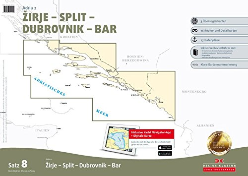 Preisvergleich Produktbild Satz 8: Adria 2 (Ausgabe 2015): Zirje - Split - Dubrovnik - Bar