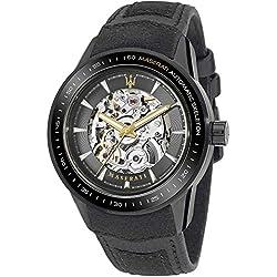 Maserati Herren-Armbanduhr XL Analog Automatik Leder R8821110001