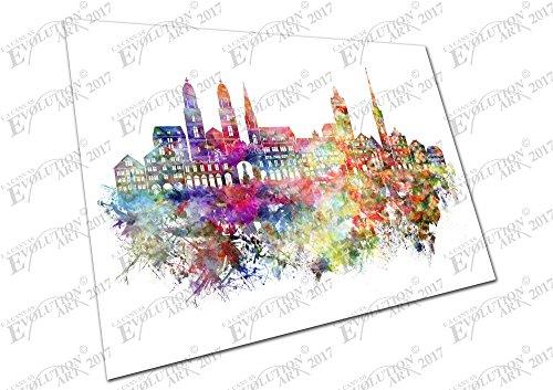 kunstdruck-auf-leinwand-city-of-zurich-schweiz-painterly-a4-print-only