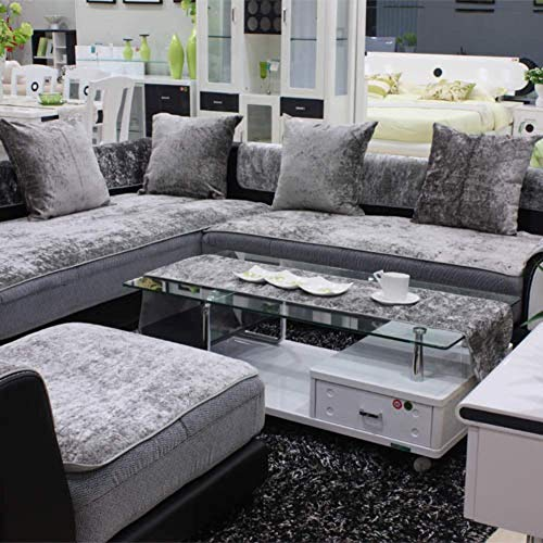 L&wb fodera per divano imbottita antiscivolo fodera per divano divano per esterno copridivano per mobili per divano in pelle pet dog & kids,h,90 * 240cm