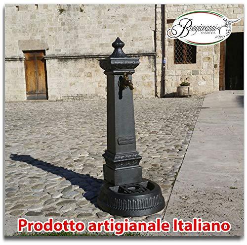 Fonderia bongiovanni fontana a colonna in ghisa h cm 115 da giardino piazza parco comune