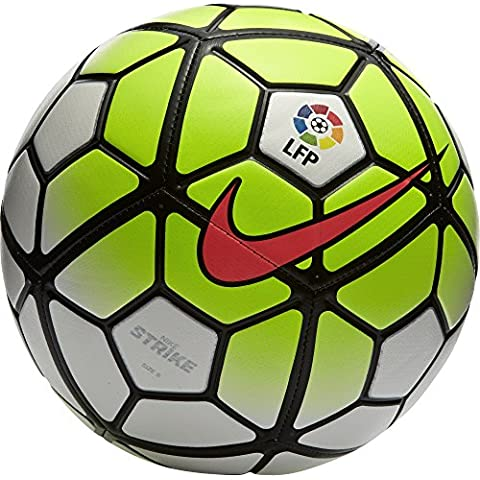 Nike Strike LFP - Balón de fútbol, color blanco / lima / negro, tamaño 5