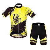 ParaCity Fahrrad Trikot kurzarm + Radhose Reiten Radfahren Radsport MTB kurzärmeliges Jersey Shirt Hose Herren/Damen L