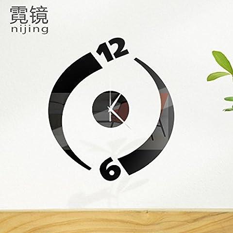 FYOUYOU den Spiegel Uhren modische Individuelle Wanduhr Stereo Wand Rotation 3D-Wand Spiegel Oberfläche