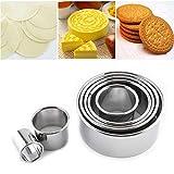 Ausstecher Rund Edelstahl Ausstechformen Set für für Keks, Plätzchen, Bento, Kuchen, Tortendekorationen - 14 Stück