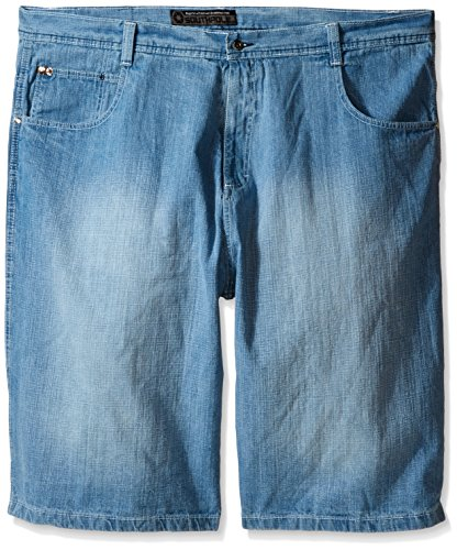Southpole Men's Big-Tall 4180 Sand Washed Denim Short in Relaxed Fit, Light Blue, 46 -