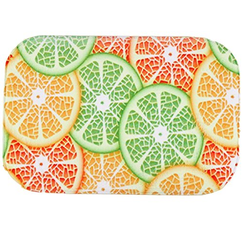 O-C Colorful Fruits Outdoor Indoor Antiskid Absorbent Bedroom Livingroom Bath Mat Bathroom Shower Rugs Doormats