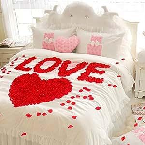 JZK® 1000 x Seta petali di rosa finti rossi coriandoli biodegradabili stoffa decorazione tavolo per matrimonio addio al nubilato San Valentino nozze