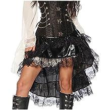 1be018a62aa9ba Vokuhila Volant Rock im Piraten Look für Karneval und Fasching A13242
