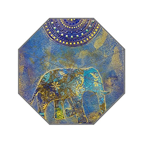 Eureya Mandala Elefante Negocio portátil de Viaje Paraguas Plegable Resistente al Viento Sol Lluvia Umbrella-Perfect Regalo