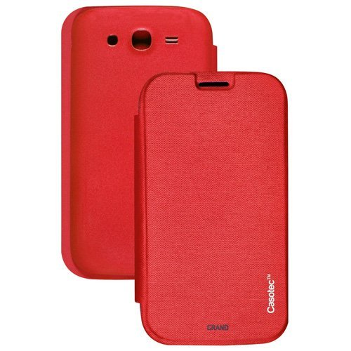 Casotec Premium Flip Case Cover for Samsung Galaxy Grand i9082 - Red  available at amazon for Rs.175