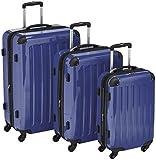 HAUPTSTADTKOFFER - Alex - 3er Koffer-Set Trolley-Set Rollkoffer Reisekoffer Erweiterbar, 4 Rollen, (S, M & L), Dunkelblau
