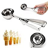 Stainless Steel 6cm Scoop for Ice Cream Mash Potato Food Spoon Kitchen Ball New