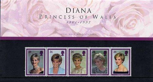 1998-diana-princesse-de-galles-timbres-dans-lot-de-presentation