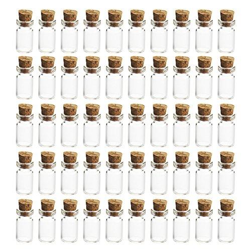 LoKauf 50er 1,5ml Mini Glasflaschen mit Korken Vakuumierer für Einmachgläser