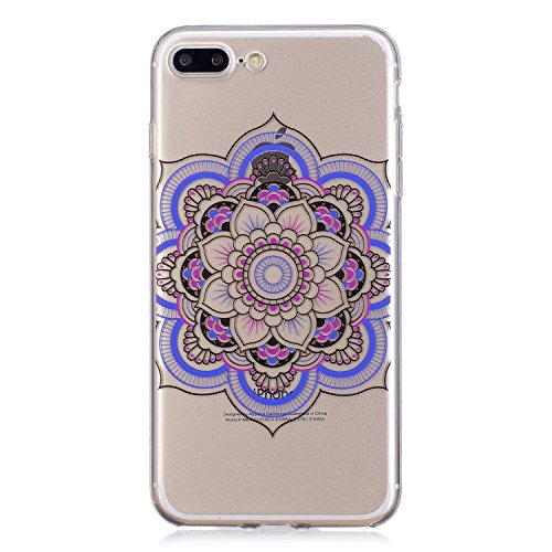 Cover iPhone 7 Plus, Custodia iPhone 8 Plus, Voguecase Custodia Silicone Morbido Flessibile TPU Custodia Case Cover Protettivo Skin Caso Per Apple iPhone 7 Plus/iPhone 8 Plus 5.5(dream/porpora piuma)  Pizzo Tappeto 11
