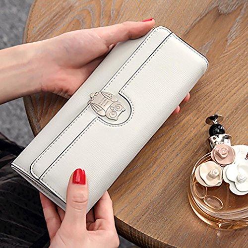 Portafoglio Donna, Tpulling Borsa multifunzionale della borsa della borsa della borsa del raccoglitore della frizione delle donne (Pink) Gray