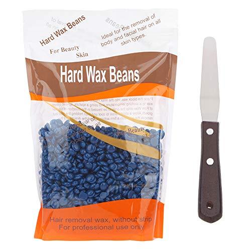 Haarentfernung Kit Hard Wax Bohnen und Edelstahl Pfannenwender lavendel -