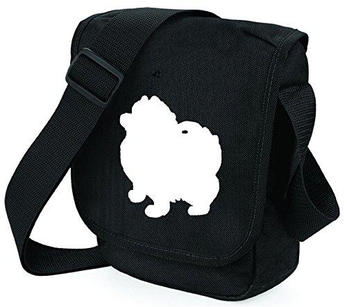 Bag Pixie - Borsa a tracolla unisex adulti Pom White on Black