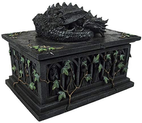 Nemesis Now Dragon Tarot Card Box Artículo decoración Gris