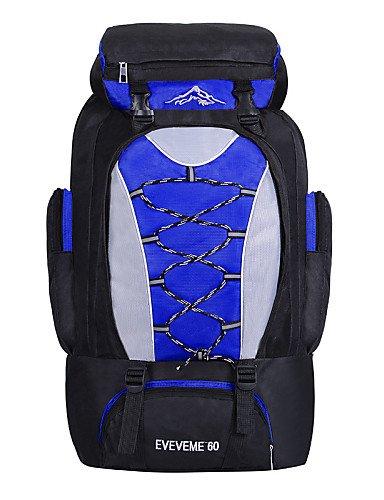 HWB/ 60 L Tourenrucksäcke/Rucksack / Laptop-Rucksäcke / Wandern Tagesrucksäcke / Travel Organizer / RucksackCamping & Wandern / Klettern / Blue