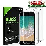 Whew Panzerglas Schutzfolie Kompatibel iPhone 6/6S, 9H Härte Panzerglasfolie,HD Ultra Transparent Schirm Displayschutzfolie,Anti Öl,Kratzen und Fingerabdrücke Blasenfrei,3D Touch Kompatibel(3 Stück)