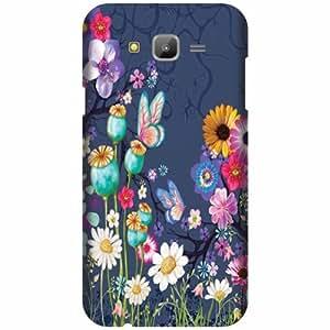 Samsung Galaxy J7 Hard Plastic Back Cover - Multicolor Designer Cases Cover By Printland