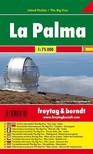 La Palma Island Pocket. Mapa de carreteras de bolsillo, plastificado. Escala 1:75.000. Freytag & Berndt.: Toeristische wegenkaart 1:75 000 (Auto karte) por VV.AA.