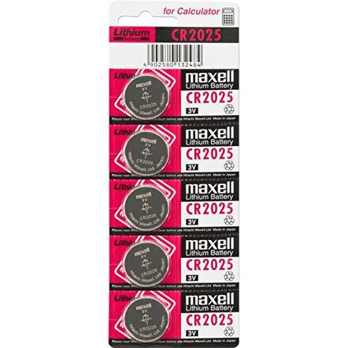 Maxell CR2025 para velas de cera de velas LED arte/vino ocho iluminación/iluminación - pilas de botón 5er rayas