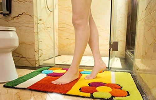 QAZ Home Türmatten Fußmatte Spüle Im Eingang Kinder Bad mit Wasseraufnahme Schlafzimmer Foot Pad (Größe: 40 x 60 cm)