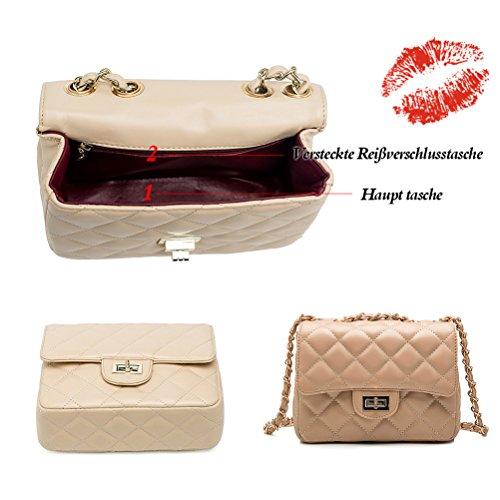 Honeymall Borsa a tracolla Catena di metallo pochette borsetta borsa del Tote del Hobo Messenger Vino Bianco