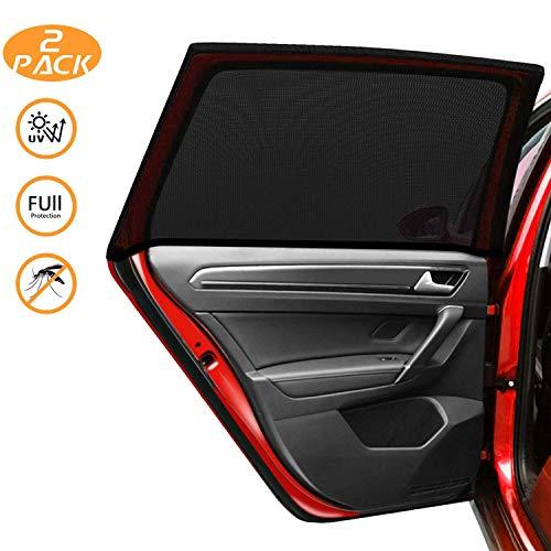 Kuyang Auto Sonnenschutz 2 Stück, Doppelseitiges UV Schutz Autofenster Sonnenschutz, Reduziert Wärme und UV-Strahlung, einfache Installation