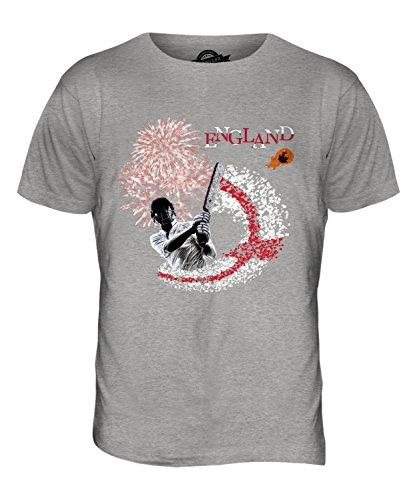 CandyMix England Cricket Herren T Shirt Grau Meliert
