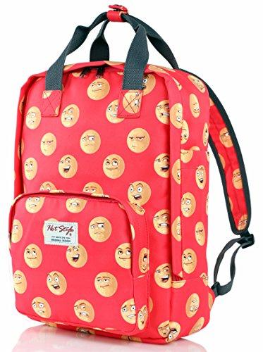 Imagen de hotstyle emoji  escolares juveniles niñas bolsas notebook 40x29x14cm