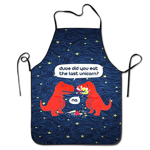 Dinosaur Bbq-sauce (Mabell The Dude You Eat The Last Unicorn T-Shirt Dinosaurs Clothing Files Kitchen Aprons)