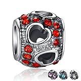 #8: Carina Blue Heart Charm Fits Pandora Bracelets