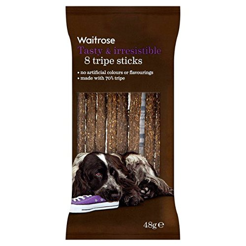 8 Pansen Sticks Hund Behandelt Waitrose 48G (Packung mit 6)